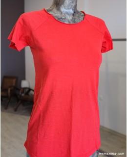 Блуза Бейсик в наситено червено