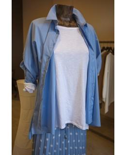 Синя Риза 3/4 ръкави