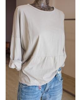 Блуза в цвят грайге