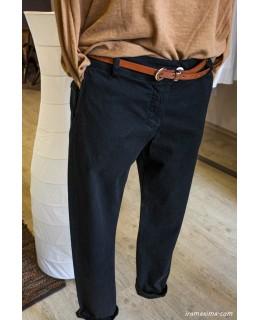 Черен Панталон с колан, последен XS