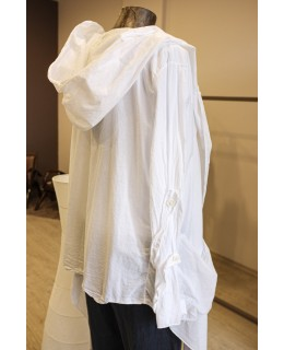 Бяла Жилетка с качулка