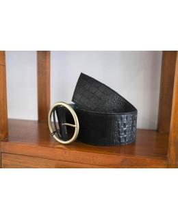 Широк Колан 8 см. в черно