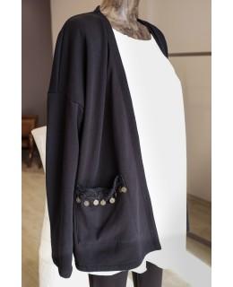 Черно сако Етно детайл