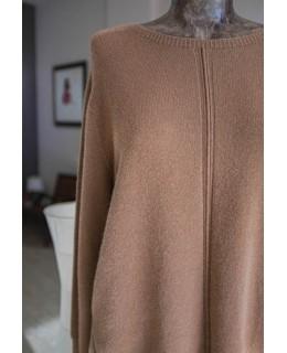 Пуловер в медено-кафяво