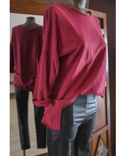 Свободна Блуза в цвят Бордо